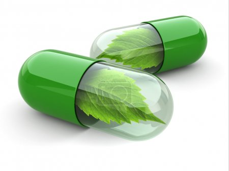 Photo for Natural vitamin pills. Alternative medicine. 3d - Royalty Free Image
