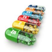 Doplňky stravy. odrůda pilulky. vitamín kapsle