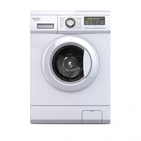 Washing machine on white isolated background. 3d...