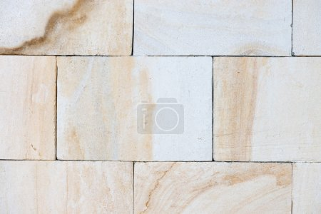 Light limestone wall