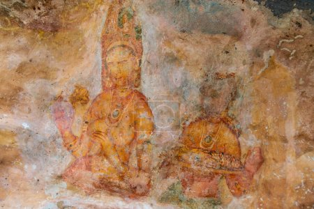 Ancient wall paintings of cloudy
