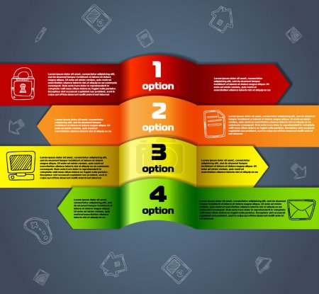 Illustration for Template for infographics numbered line banners website - Royalty Free Image