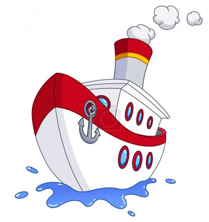 Illustration for Cartoon ship - Royalty Free Image