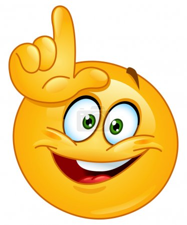 Illustration for Emoticon making the loser sign - Royalty Free Image