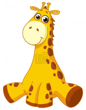 Illustration for Baby giraffe - Royalty Free Image