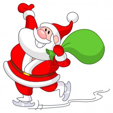 Ice skating Santa