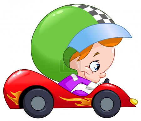 Kid race car driver