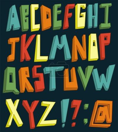 Illustration for Colorful 3d alphabet set - Royalty Free Image