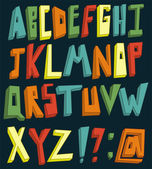 Colorful 3d alphabet