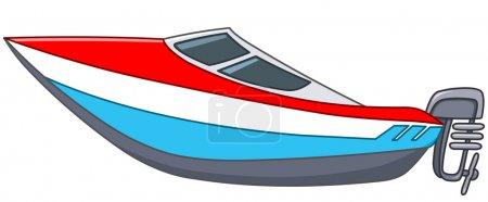 Illustration for Cartoon motor boat - Royalty Free Image