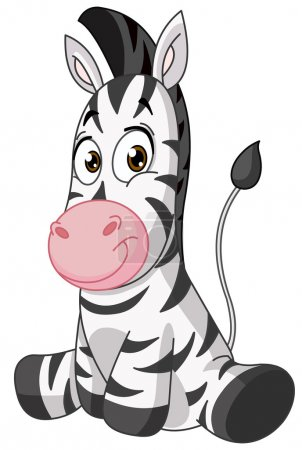 Illustration for Baby zebra - Royalty Free Image