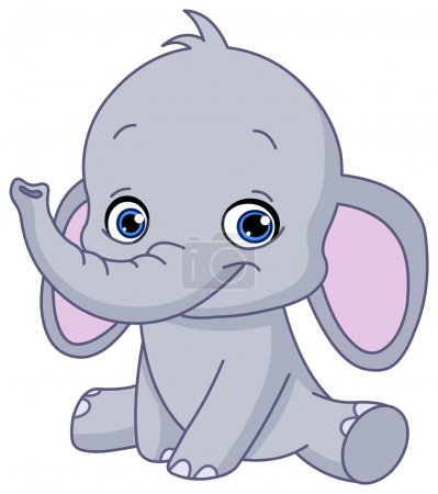 Illustration for Baby elephant - Royalty Free Image