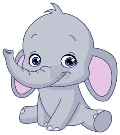 Illustration pour Bébé éléphant - image libre de droit