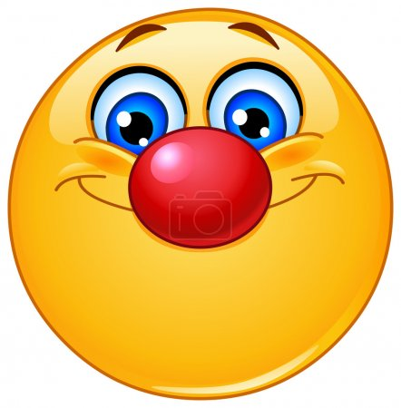 Illustration for Emoticon with clown nose - Royalty Free Image