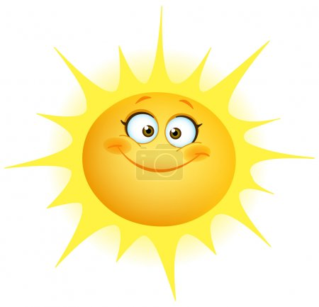 Illustration for Cute smiling sun - Royalty Free Image