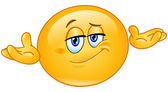 Emoticon asking what's the problem who cares so what I don't know