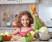 Dívka Příprava zdravého jídla