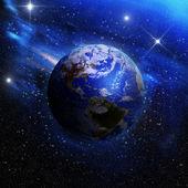 Země při pohledu z vesmíru