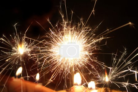 sparking Bengal fire