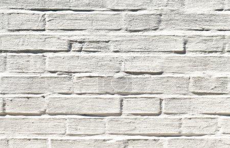 Photo pour Texture murale en brique blanche - image libre de droit