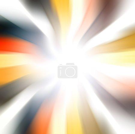 Photo pour Intersection perspective de lignes courbes et radiales colorées vintage - image libre de droit