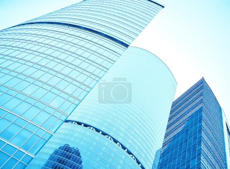 Photo for Facade of huge high-rise building skyscraper - Royalty Free Image