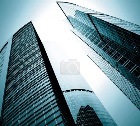 Photo for Modern glass silhouettes of skyscrapers - Royalty Free Image