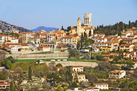 Photo pour La Turbie et le Trophée des Alpes, Côte d'Azur, France - image libre de droit