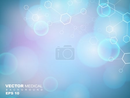 Illustration for Abstract molecules medical background. EPS 10. - Royalty Free Image