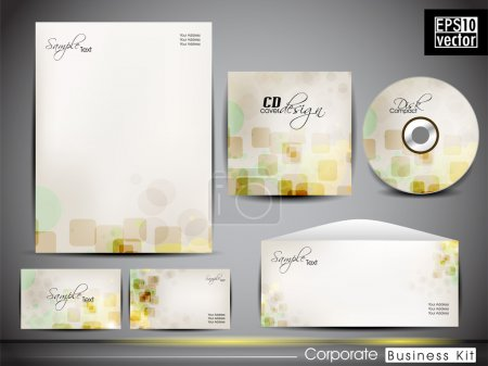 Professional corporate identity kit or business kit with artisti