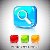 Glossy 3D web 20 search symbol icon set EPS 10