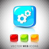 Glossy 3D web 20 settings symbol icon set EPS 10