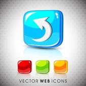 Glossy 3D web 20 left arrow symbol icon set EPS 10