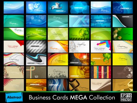 Professional business card set