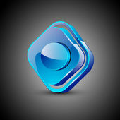 Glossy web 20 music icon with record button EPS 10