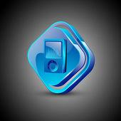 Glossy 3D web 20 mp3 symbol icon set EPS 10