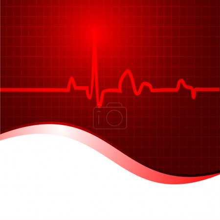 Cardiogram background. EPS 10.