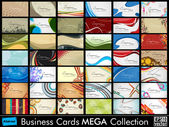 Mega collection of 42 abstract professional and designer business cards or visiting cards on different topic arrange in horizontal EPS 10