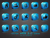3D web 20 mail icons set Can be used for websites web applica