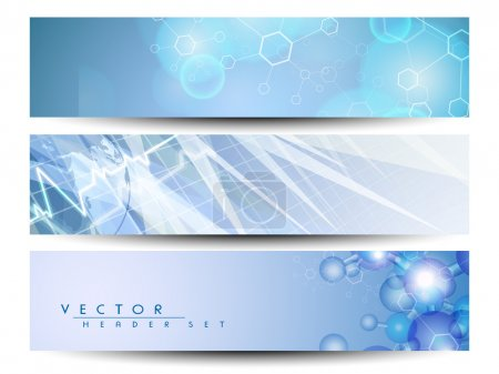 Illustration for Set of medical banners or website headers. EPS 10. - Royalty Free Image