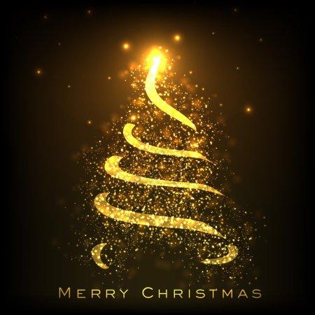 Shiny Christmas tree. EPS 10.
