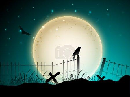 Illustration pour Fond effrayant Halloween. SPE 10 . - image libre de droit