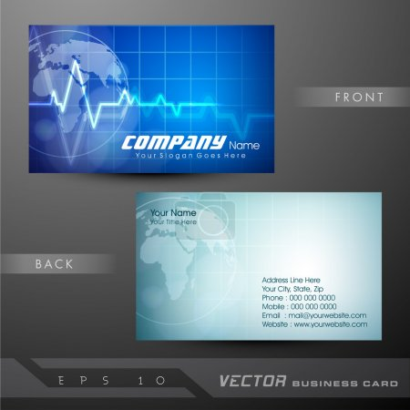 Medical business cards or visiting card. EPS 10.