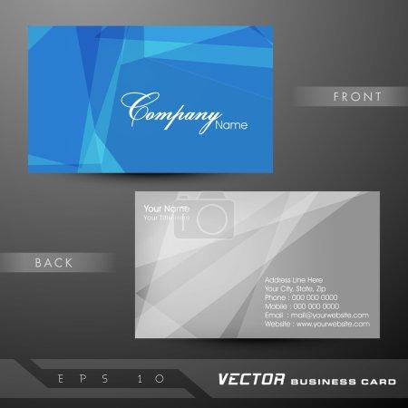 Illustration pour Modèle de carte de visite professionnelle et concepteur abstraite ou carte de visite de jeu. EPS 10. - image libre de droit