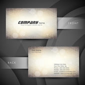 Abstract professional and designer business card template or vis