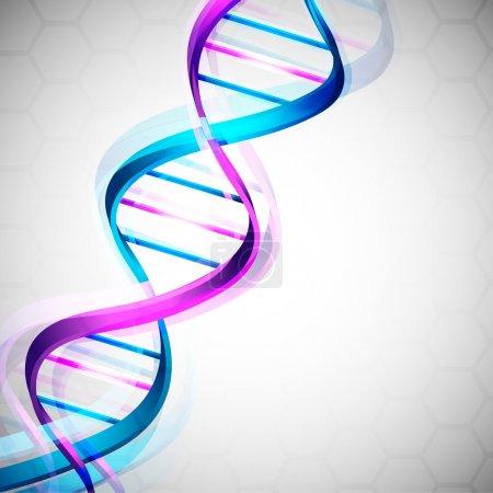 Illustration pour Fond médical abstrait avec ADN coloré. SPE 10 . - image libre de droit