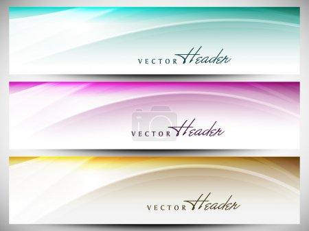Website header or banner set with beautiful floral design. EPS 1