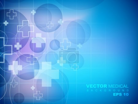 Illustration for Cardiogram background. EPS 10. - Royalty Free Image