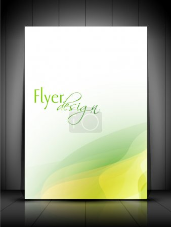 Illustration for Professional business flyer template or corporate banner design, can be use for publishing, print and presentation. EPS 10. - Royalty Free Image