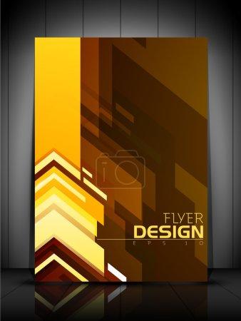 Illustration pour Modèle de flyer professionnel ou conception de bannière corporative, peut être utilisé pour la publication, impression et présentation. EPS 10. - image libre de droit